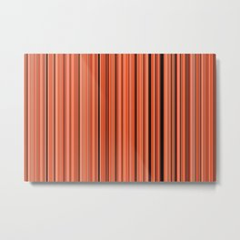 Old Skool Stripes - Autumn - Extra Wide Metal Print