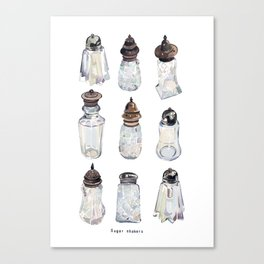 Antique Sugar Shakers Canvas Print