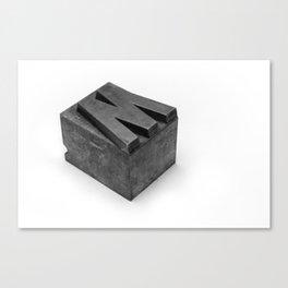 'W' Type Block Canvas Print