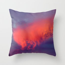 Floating Caterpillar in the Sky Throw Pillow