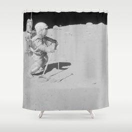 Apollo 16 - Collecting Lunar Samples Shower Curtain