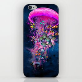 Floating Electric Jellyfish Worlds iPhone Skin