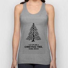 I lit up like a christmas tree, hazel grace TFIOS JOHN GREEN Unisex Tank Top