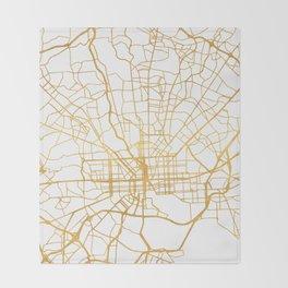 BALTIMORE MARYLAND CITY STREET MAP ART Throw Blanket