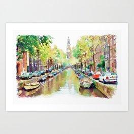 Amsterdam Canal 2 Art Print