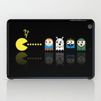 tintin iPad Cases featuring Pacman with Tintin Ghosts by NicoWriter