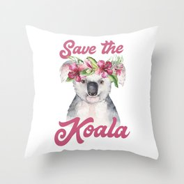 Save the Koala -#1 Throw Pillow