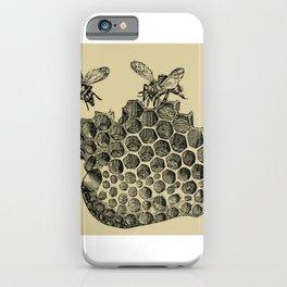 Vintage Bee & Honeycomb iPhone Case