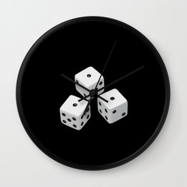 Realistic dice Best Gift Wall Clock