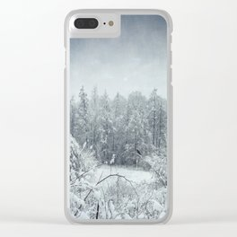winterscape Clear iPhone Case