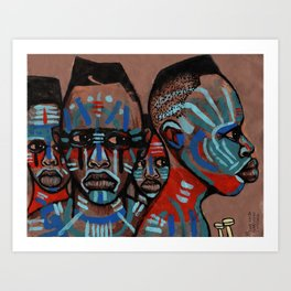 2018 Natives of the Planit of Warrior Means art by Marcellous Lovelace Art Print