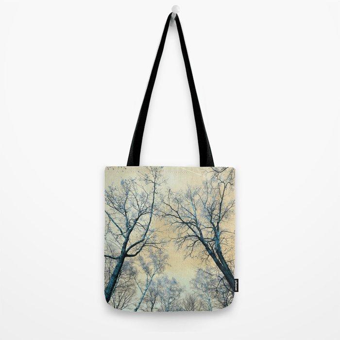 Trees nature infrared landscape Tote Bag