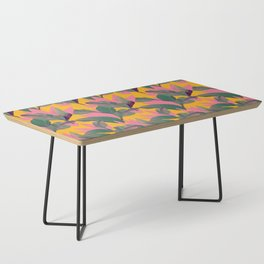 Retro Luxe Lilies Pattern Coffee Table