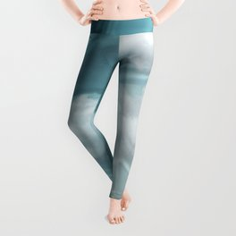"""Blue pastel spring sky with clouds"" Leggings"