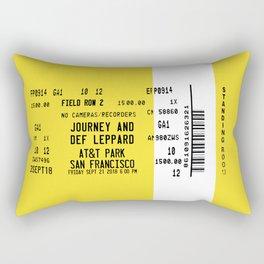 Concert Ticket Stub - Journey at AT&T Park Rectangular Pillow