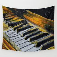 piano Wall Tapestries featuring Piano by Renny Hendra
