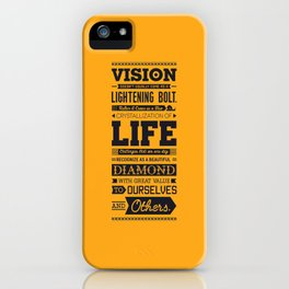 Lab No. 4 Vision Does Usually Dr. Michael Norwood Life Motivational Quotes iPhone Case