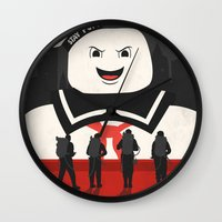 ghostbusters Wall Clocks featuring Ghostbusters by Bill Pyle