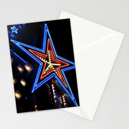 neon star Stationery Cards