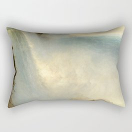 "Frederic Church ""Niagara Falls, from the American Side"" Rectangular Pillow"