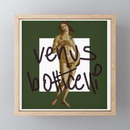 venus botticelli green forrest ed  Framed Mini Art Print