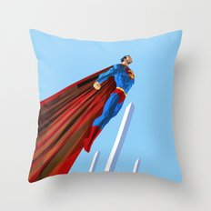 Man Up (blue steel variant) Throw Pillow