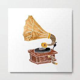 gramophone cartoon Metal Print