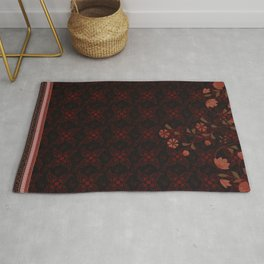 Indian boho antique - Collection 2020 - Black, gold and Red Rug