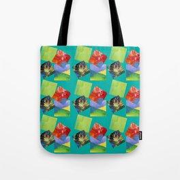 Painted Squares Jiggle - Green Tote Bag