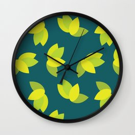 Geometric Leaves Wall Clock