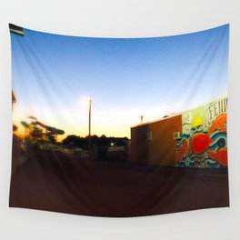 After Dark at the Waterpark Wall Tapestry