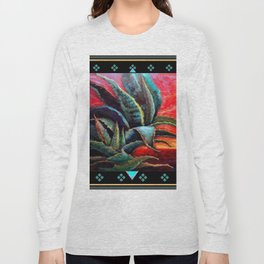 SOUTHWEST DESERT AGAVE BLACK DESIGN Long Sleeve T-shirt