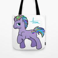 mlp Tote Bags featuring MLP OC by AlexavierTaiga