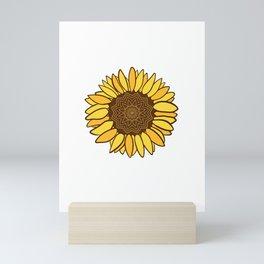 Mandala Sunflower Cute Handmade Colors Mini Art Print
