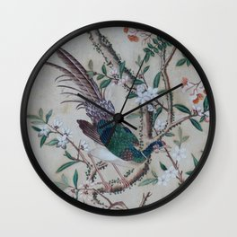 Antique Chinoiserie with Bird Wall Clock