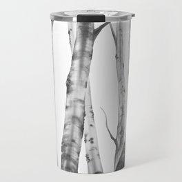 Birch Tree | Watercolour | Painting | black-and-white | Black and White | Minimalism Travel Mug
