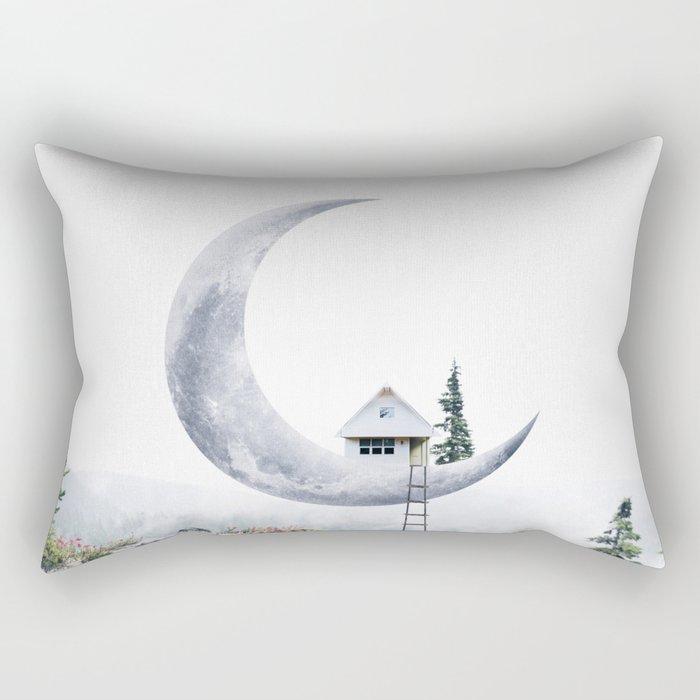 Moon House Rectangular Pillow