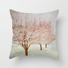 January Romance Throw Pillow