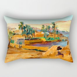 Jan Ciaglinski Nile near Aswan Rectangular Pillow
