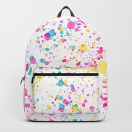 Spring Happy - Bright Color Paint Splatter Backpack
