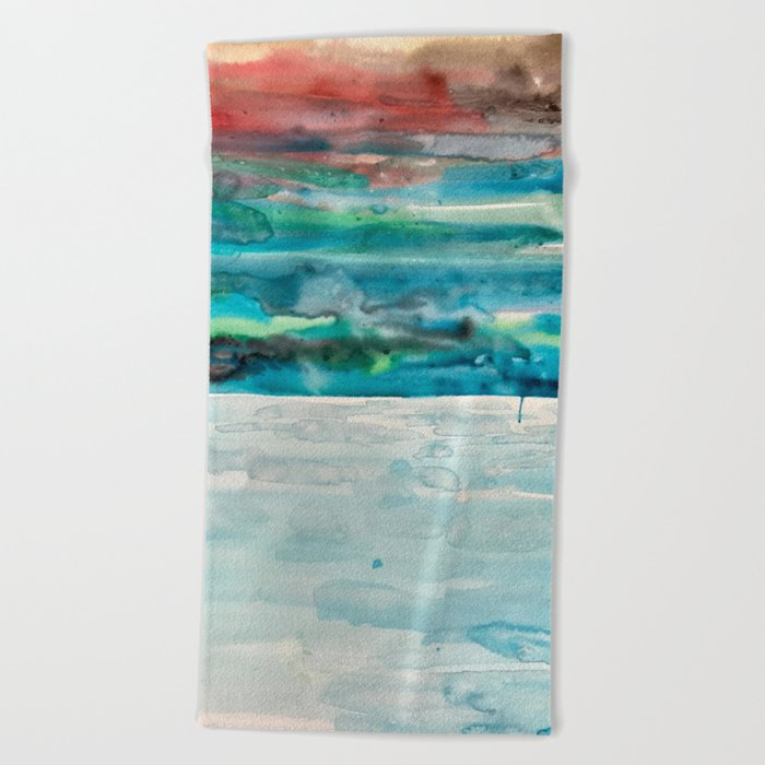Miami Beach Watercolor 5 Towel