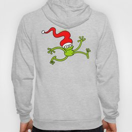 Christmas Frog Jumping out of Joy Hoody