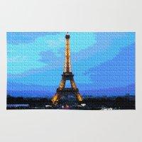 eiffel Area & Throw Rugs featuring Eiffel by osile ignacio