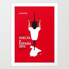 MY VUELTA A ESPANA MINIMAL POSTER Art Print