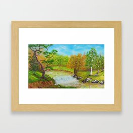 Family of Trees Framed Art Print
