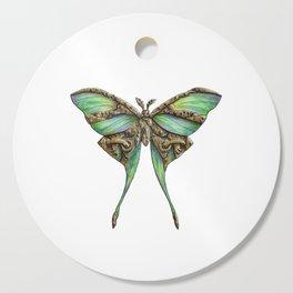 Steampunk Green Luna Moth Cutting Board