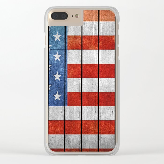 American Flag Clear iPhone Case