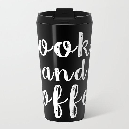 Books and Coffee - Inverted Metal Travel Mug