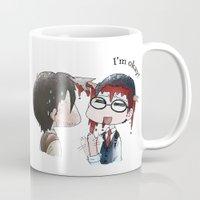 jojo Mugs featuring JOJO NOOOOO by Yiji