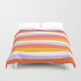cali beach stripes Duvet Cover